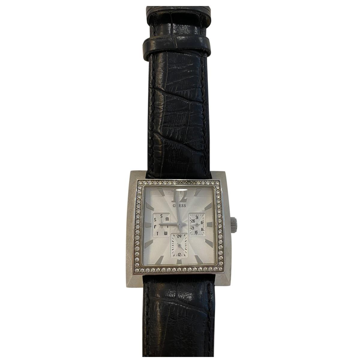 Guess \N Uhr in  Schwarz Stahl