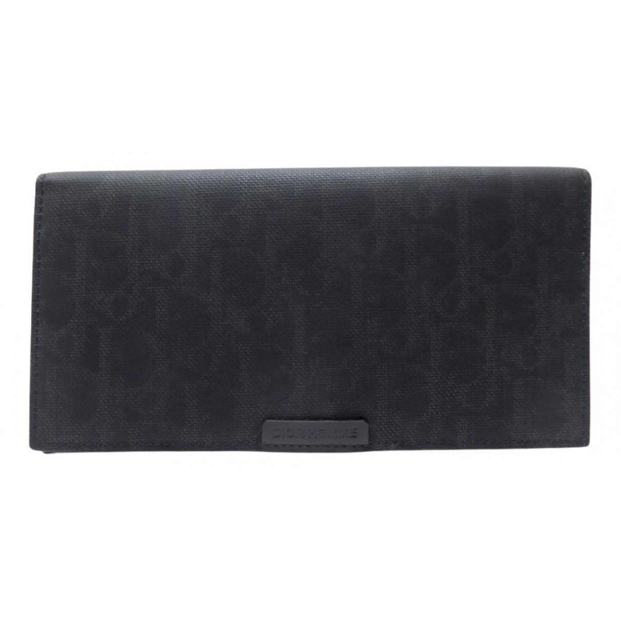 Dior Homme - Portefeuille   pour femme en toile - noir