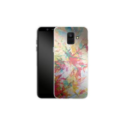 Samsung Galaxy A6 Silikon Handyhuelle - Abstract Autumn 2 von Mareike Bohmer