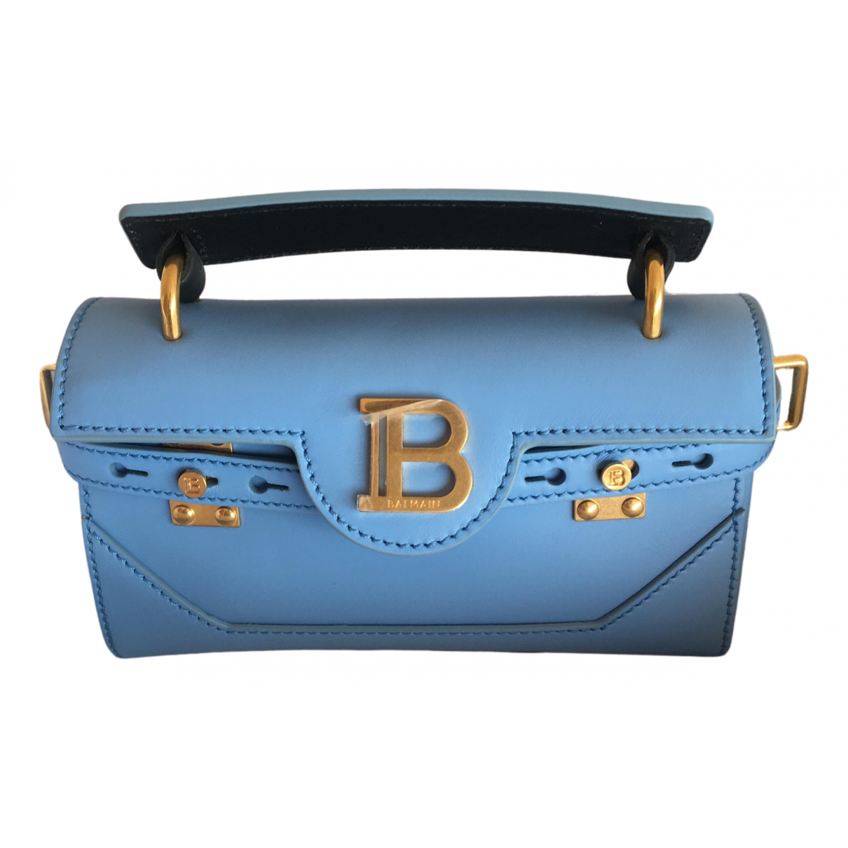 Balmain N Blue Leather handbag for Women N