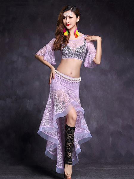 Milanoo Disfraz Halloween Danza de vientre sets fibra de poliester Actuacion estilo femenino para adultos de bailarina de danza del vientre Carnaval H