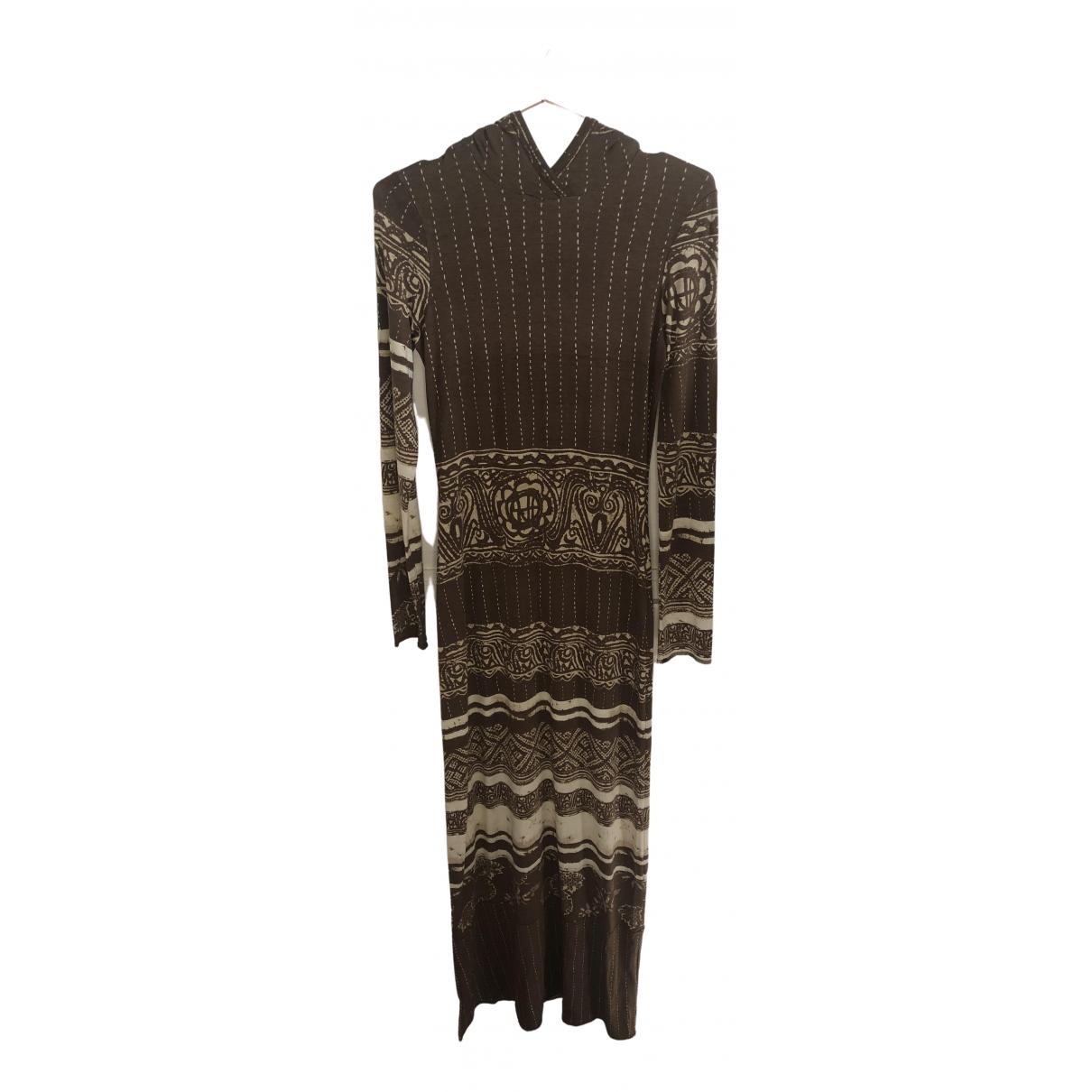 Jean Paul Gaultier \N Kleid in  Braun Baumwolle - Elasthan