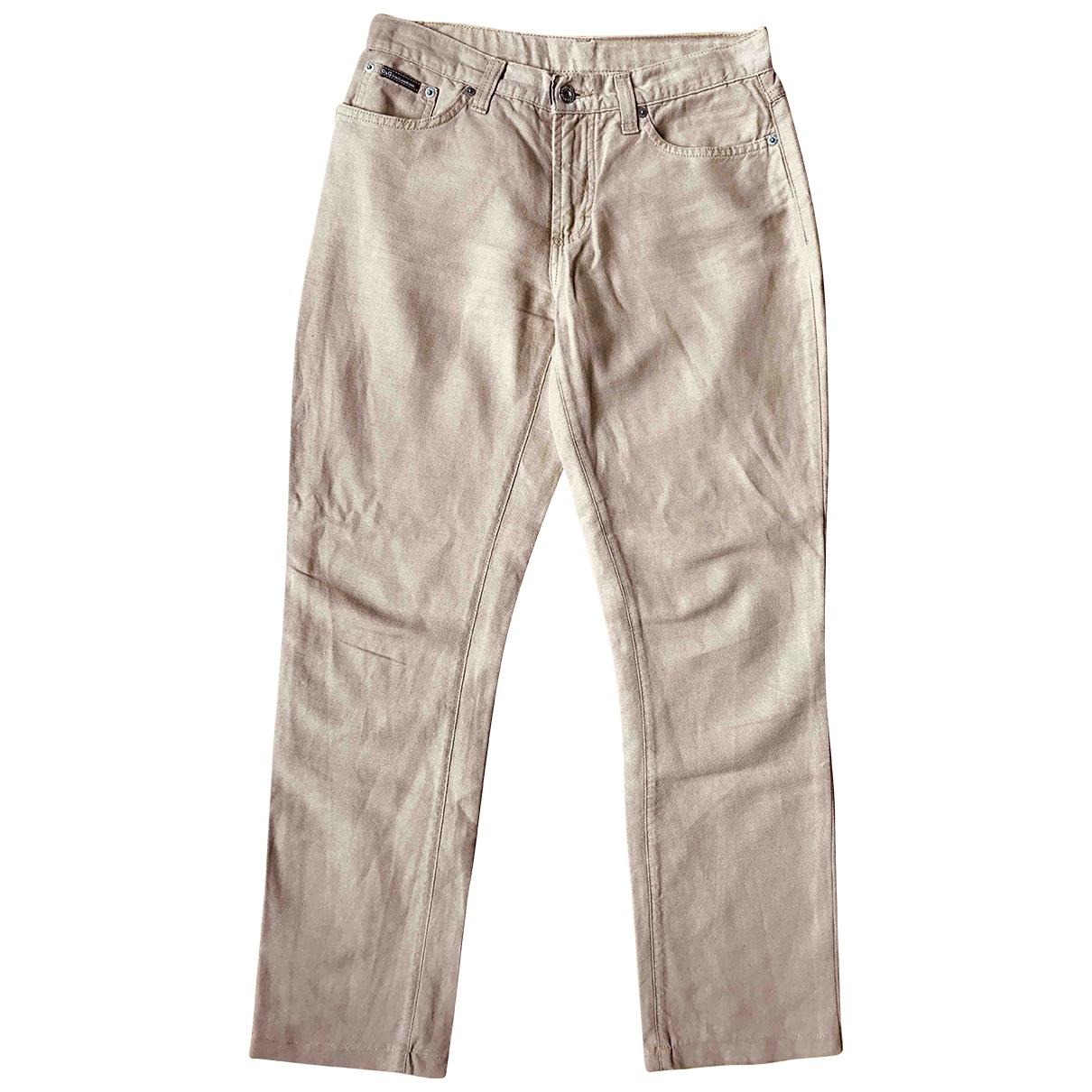 D&g \N Ecru Cotton Jeans for Women 30 US