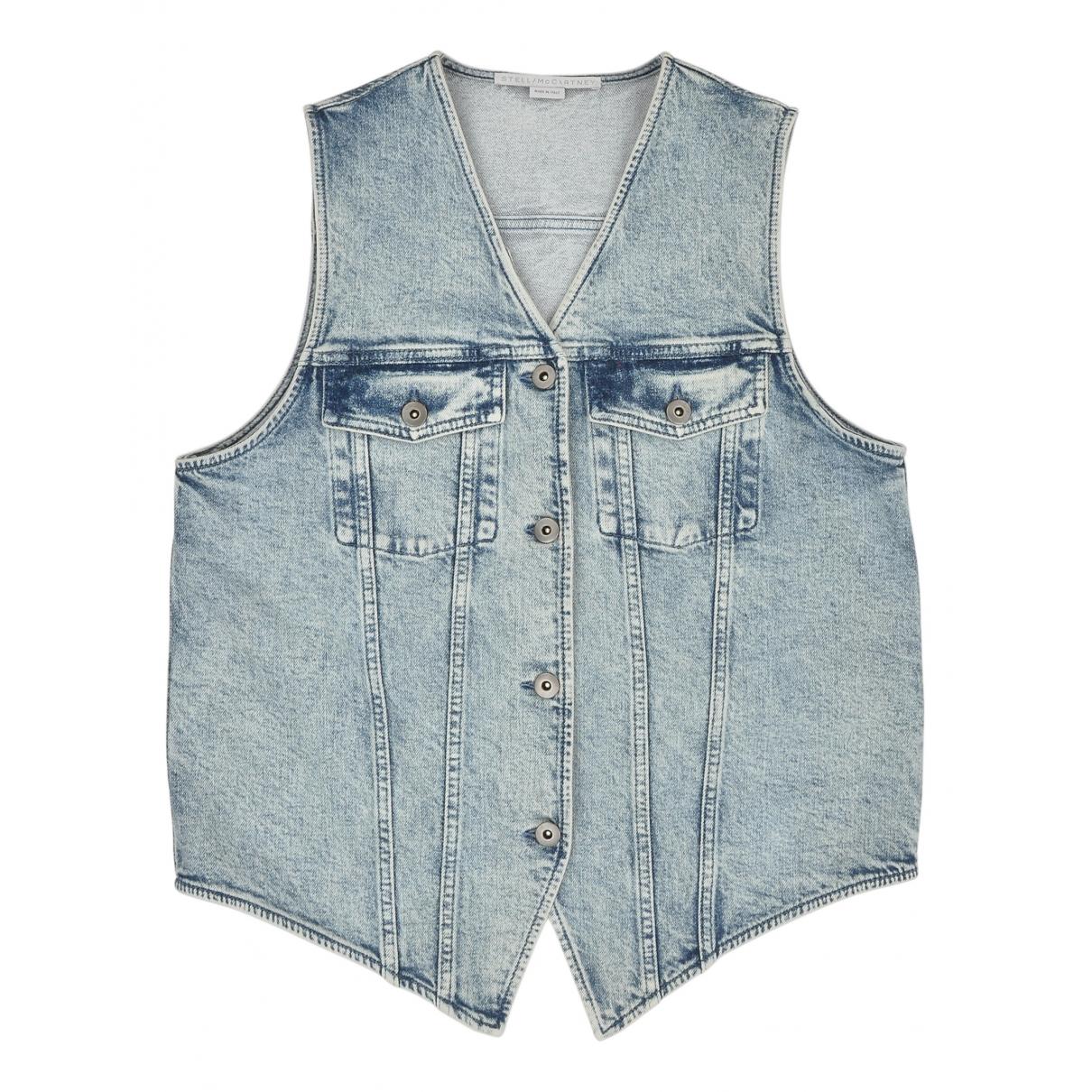 Stella Mccartney N Blue Cotton jacket for Women 36 IT