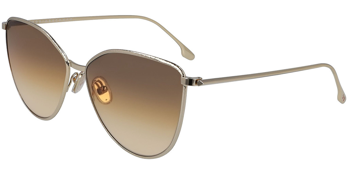 Victoria Beckham VB209S 708 Women's Sunglasses Gold Size 59