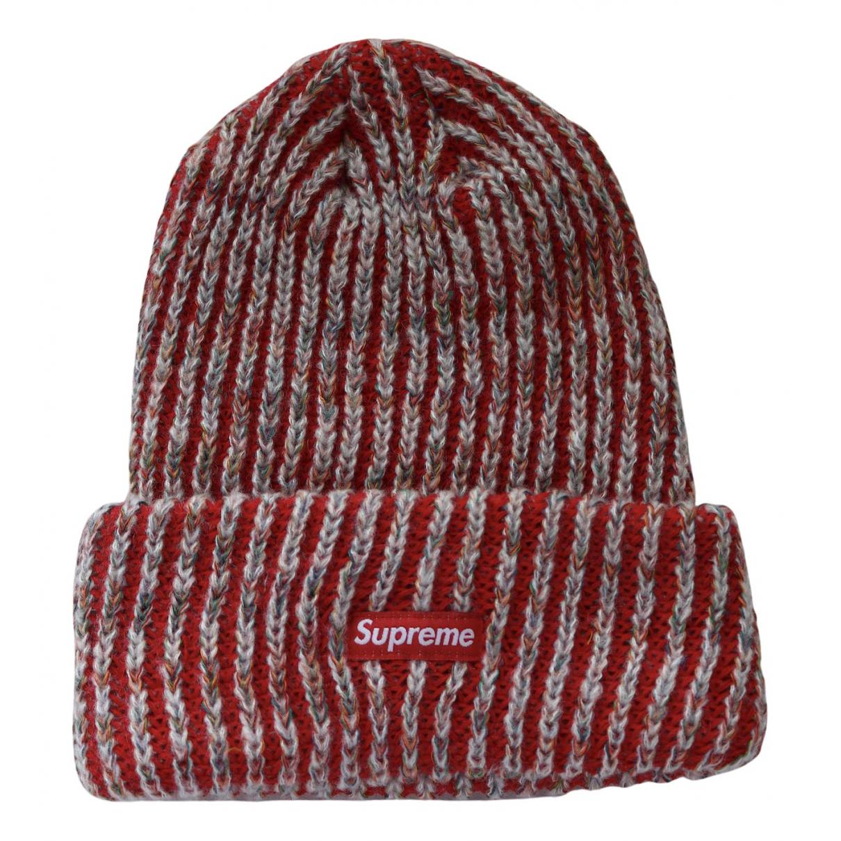 Supreme \N Hut, Muetzen in  Rot Baumwolle
