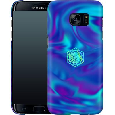 Samsung Galaxy S7 Edge Smartphone Huelle - PSYCHEDELIC BLUE von Berlin Techno Collective