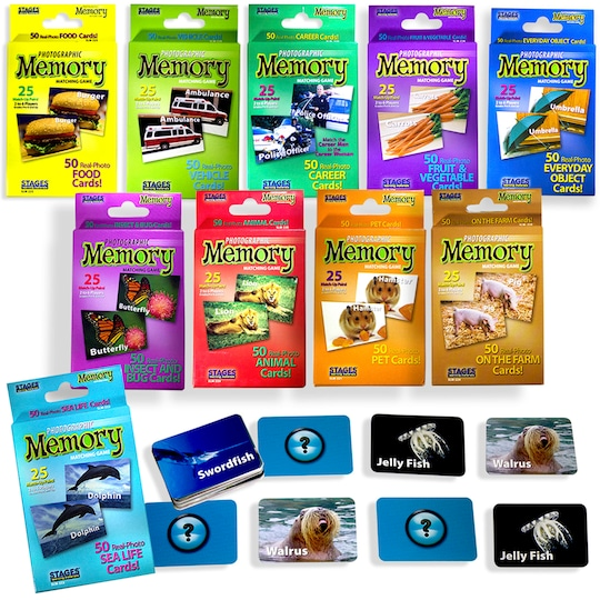 Set Of 10 Memory Games By Stages Learning Materials   Michaels®