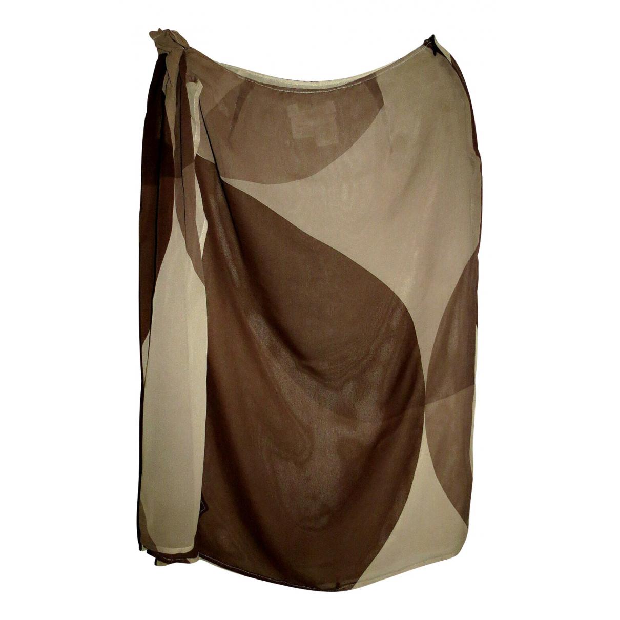 Max Mara - Jupe   pour femme en soie - marron