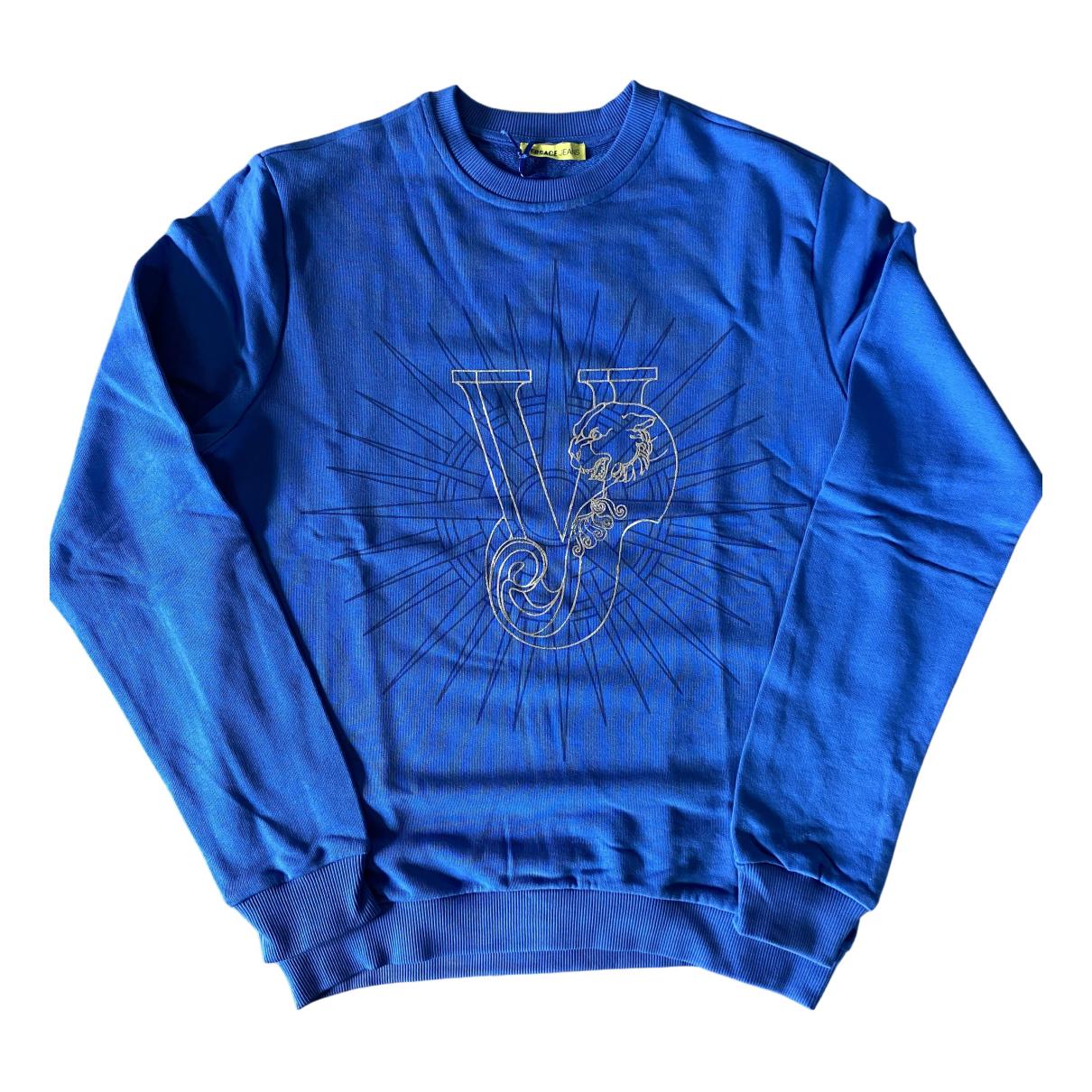 Versace Jeans \N Pullover.Westen.Sweatshirts  in  Blau Baumwolle