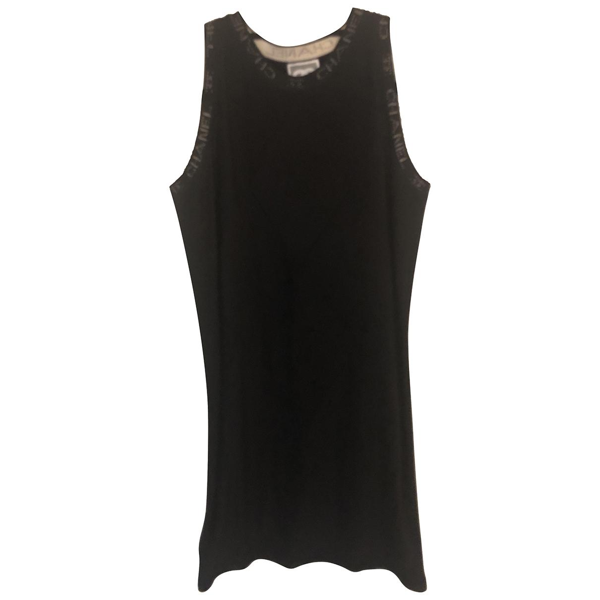 Chanel - Robe   pour femme en laine - noir