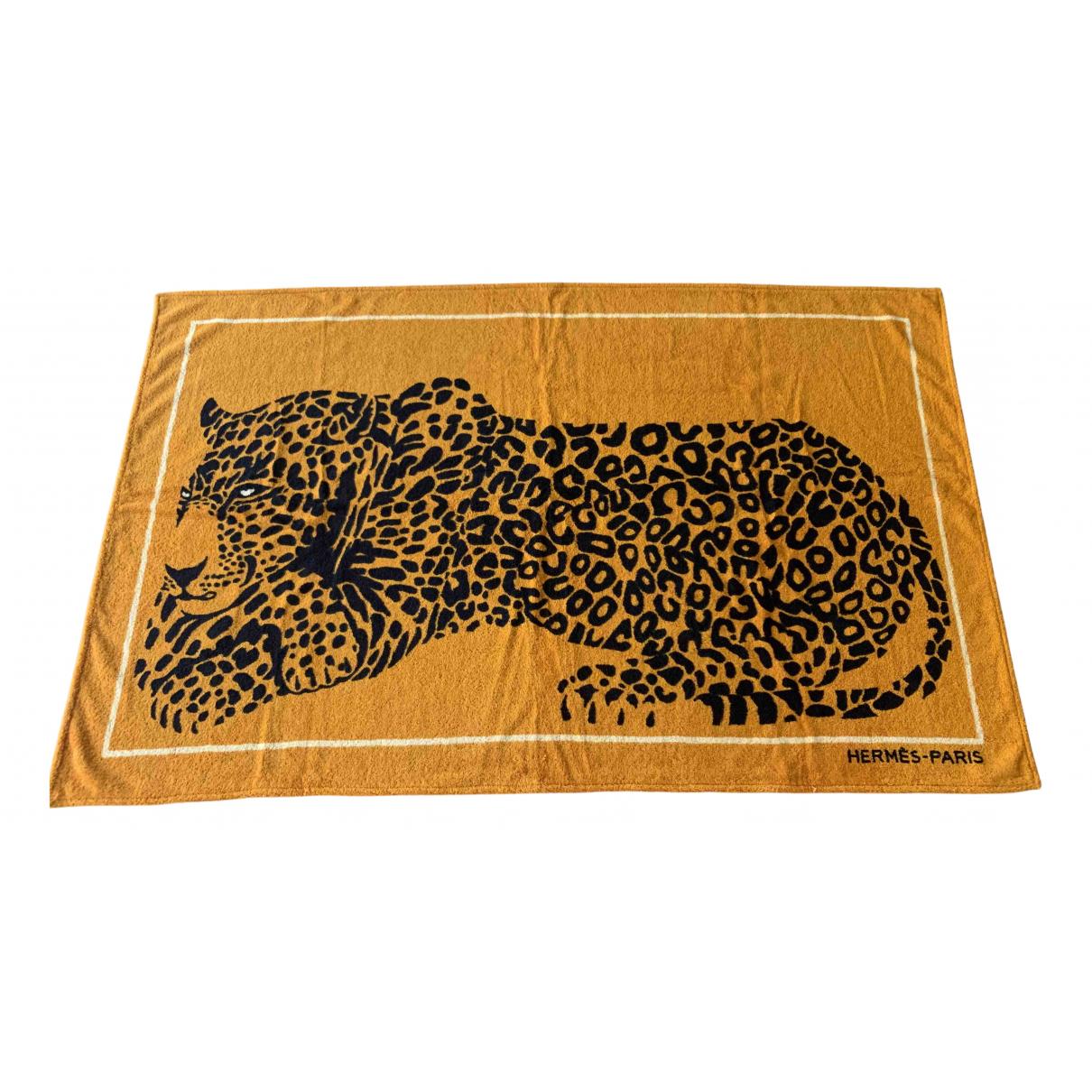 Hermes - Linge de maison Les Leopards pour lifestyle en eponge - orange
