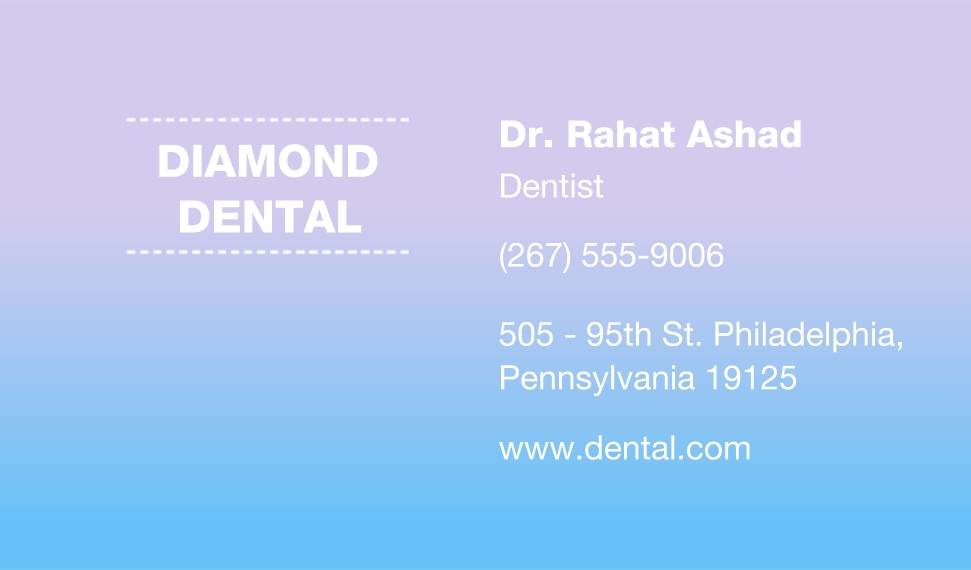Modern Business Cards, Set of 40, Card & Stationery -Pastel Dental