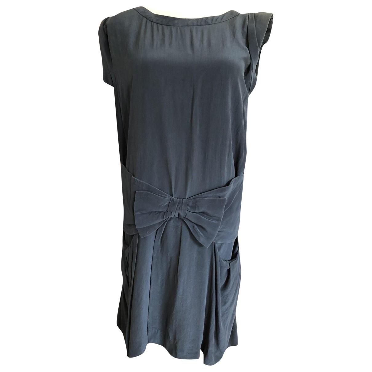 Claudie Pierlot \N Kleid in  Blau Seide