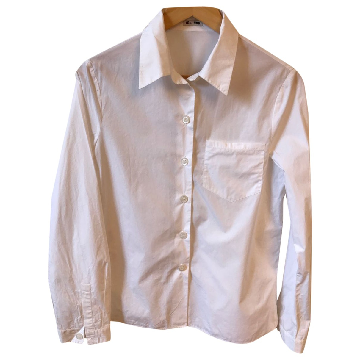 Miu Miu - Top   pour femme en coton - blanc