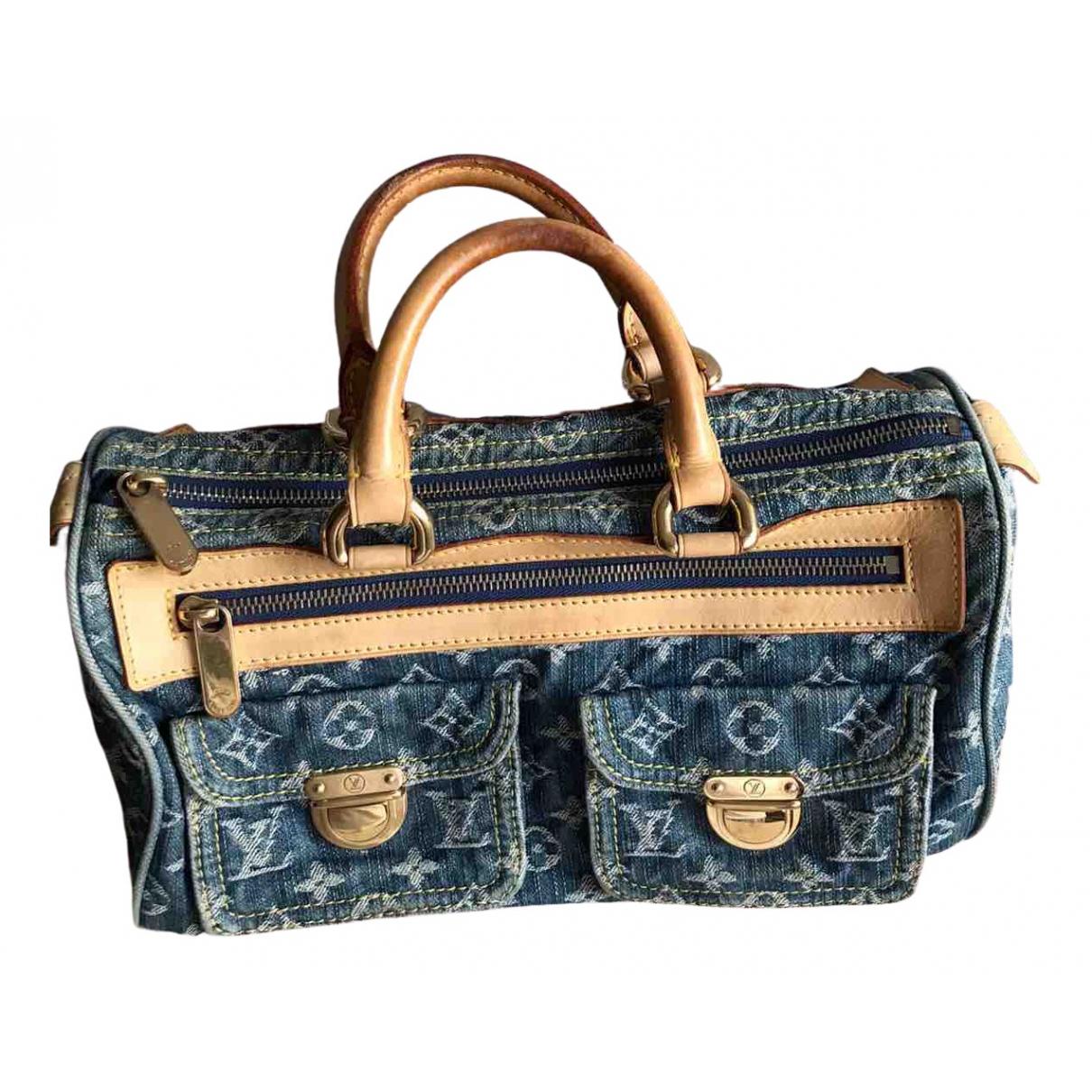 Louis Vuitton Néo speedy Blue Denim - Jeans handbag for Women N