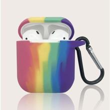 1pc Rainbow Print AirPods Case
