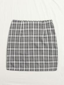 Tartan Print Skirt