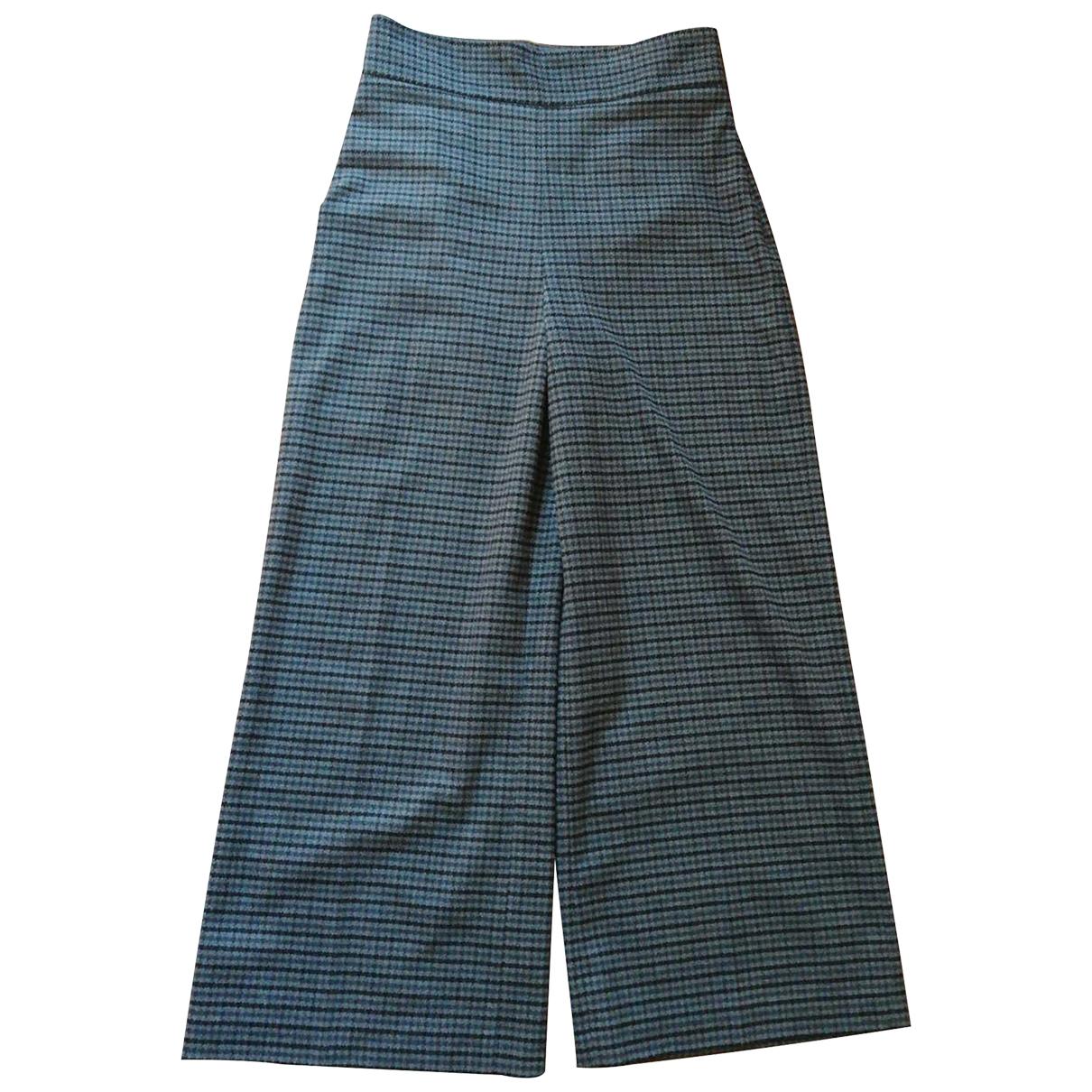 Pantalon largo de Cuero Zara
