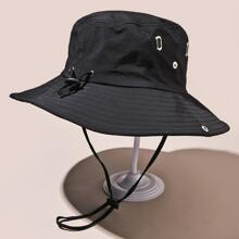 Drawstring Decor Bucket Hat