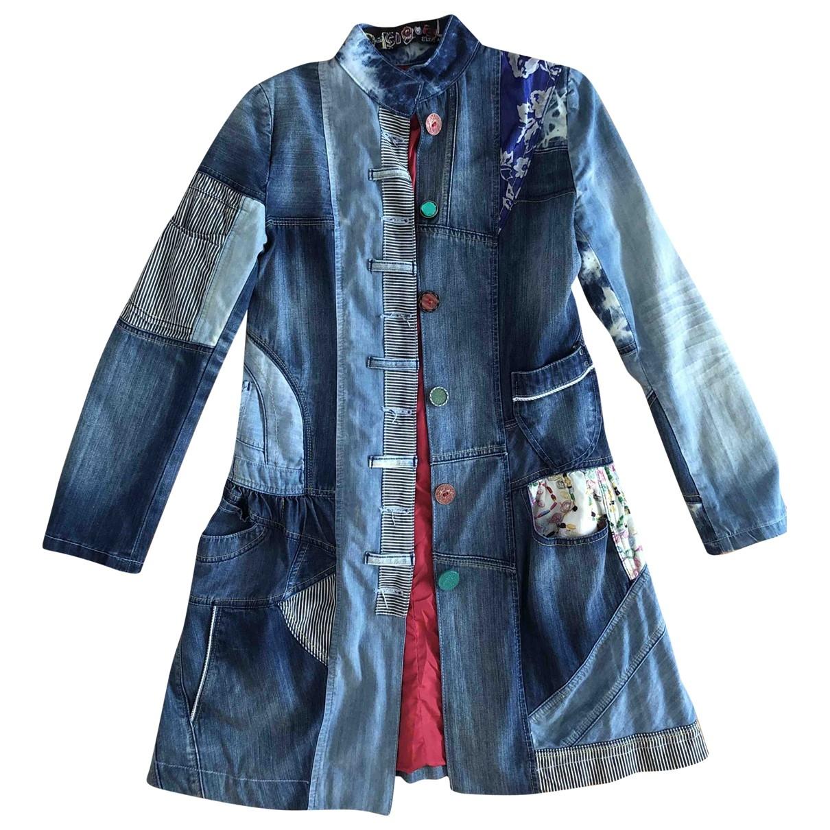 - Manteau   pour femme en denim - bleu