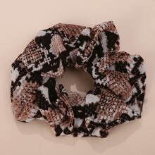 1pc Snakeskin Print Scrunchie