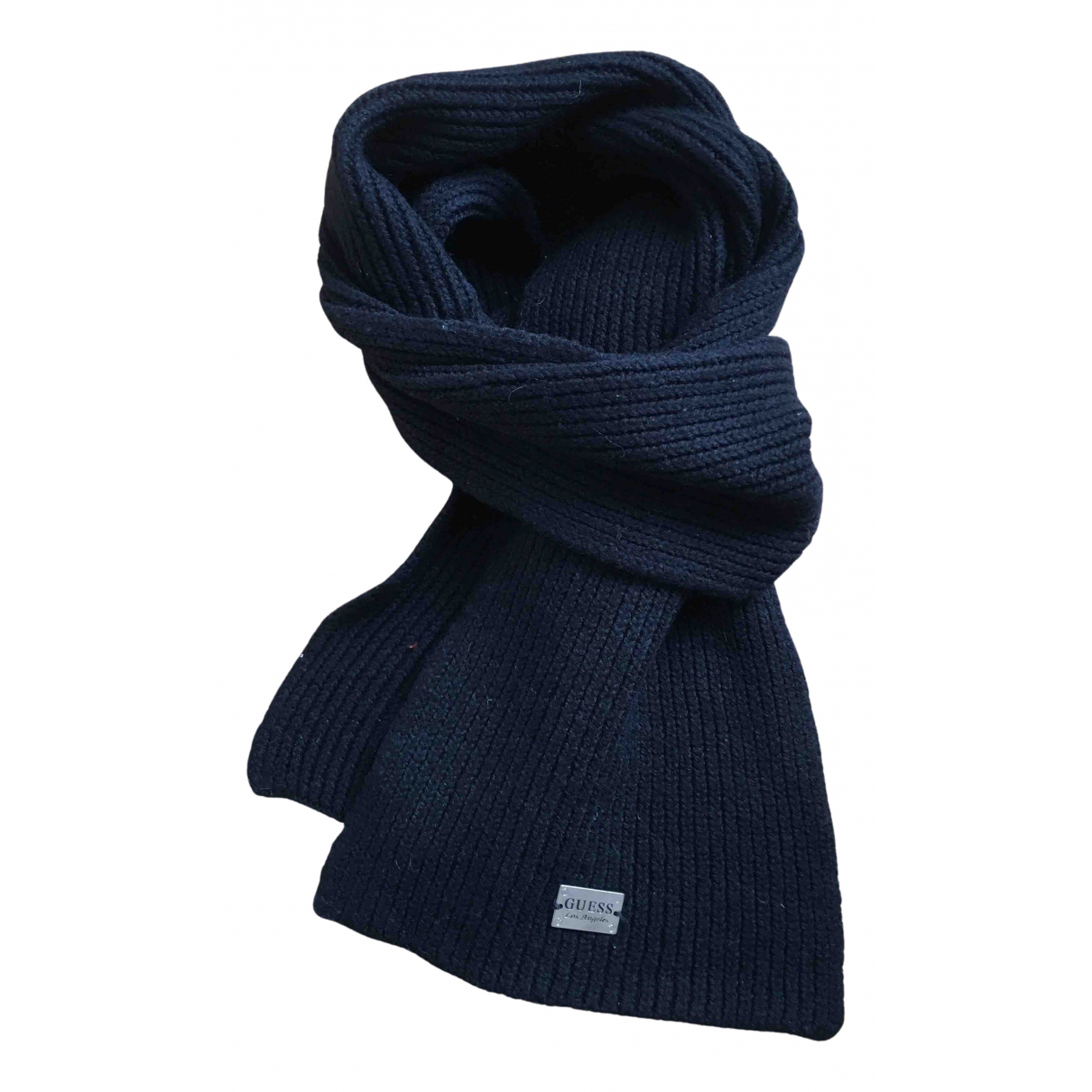 Guess \N Schal in  Schwarz Wolle