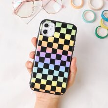 Gradient Plaid iPhone Case