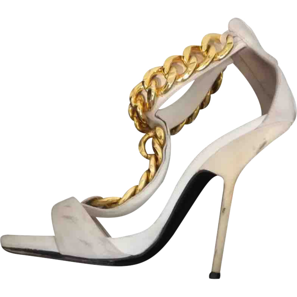 Giuseppe Zanotti \N White Leather Sandals for Women 40 EU