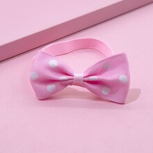 1pc Polka Dot Bow Decor Cat Collar
