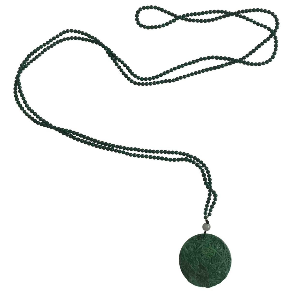 Non Signe / Unsigned Chaines Kette in  Gruen Jade