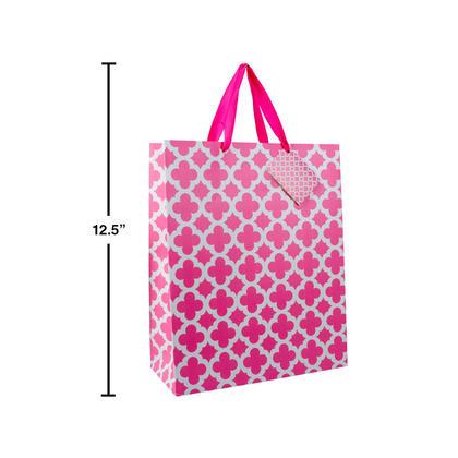 Gift Bag Present Bag Pink Medium Size 7