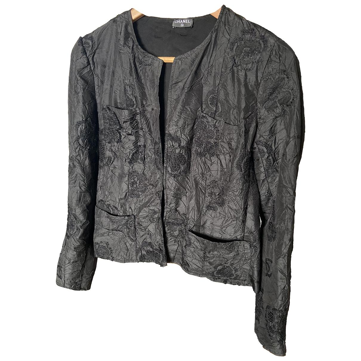 Chanel \N Jacke in  Schwarz Polyester