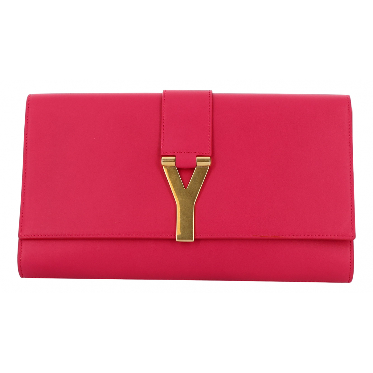 Saint Laurent - Pochette   pour femme en cuir - rose