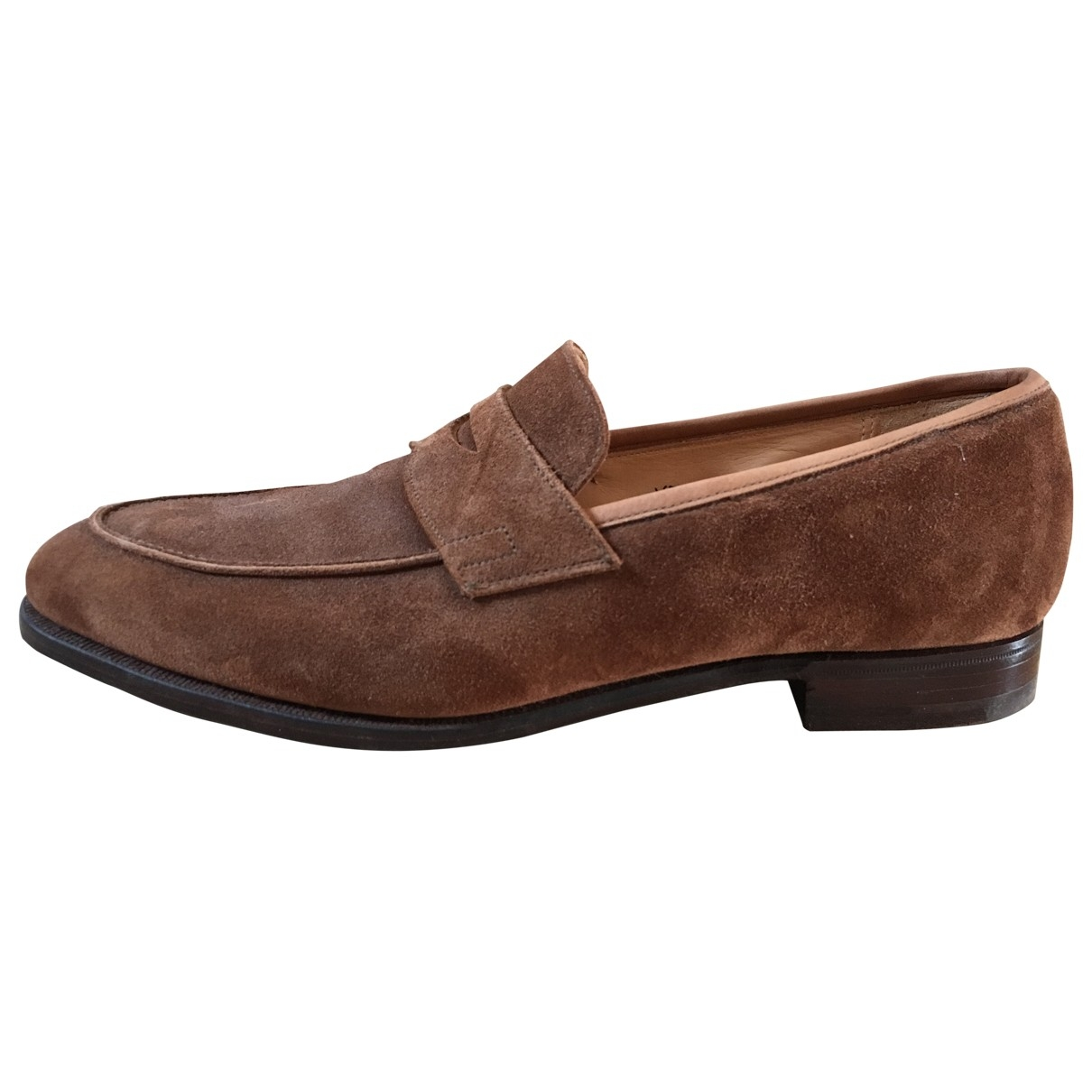 Crockett& Jones \N Camel Suede Flats for Men 41 EU