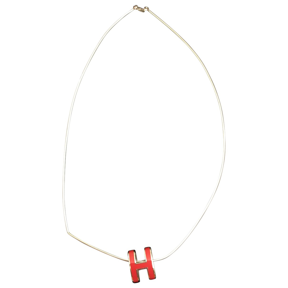 Hermes Cage dH Kette in  Rot Metall