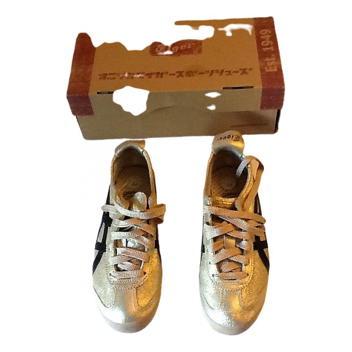 Onitsuka Tiger \N Gold Leather Trainers for Women 38 EU