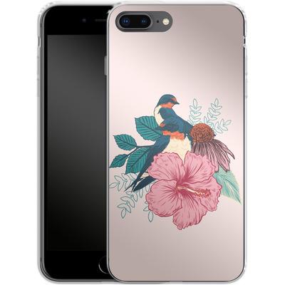 Apple iPhone 8 Plus Silikon Handyhuelle - Barn Swallows von Mat Miller