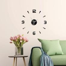 1pc Mirror Surface Wall Clock