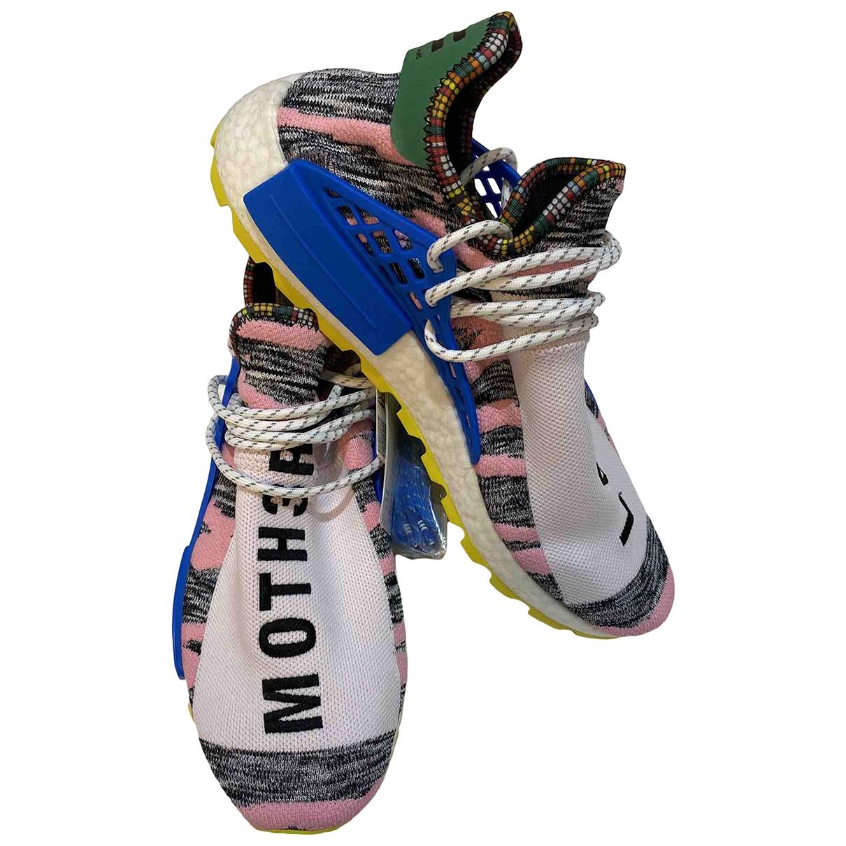 Adidas X Pharrell Williams NMD Hu Sneakers in Leinen