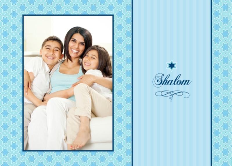 Hanukkah Photo Cards 5x7 Folded Cards, Standard Cardstock 85lb, Card & Stationery -Shalom