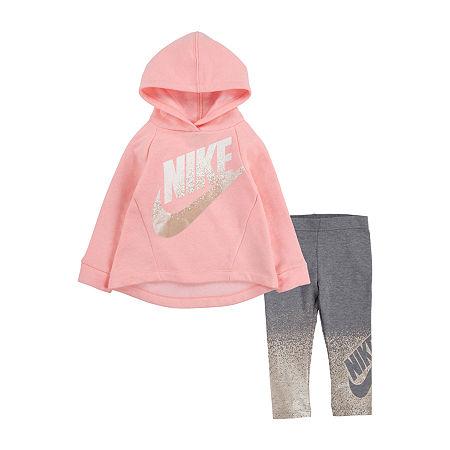 Nike Toddler Girls 2-pc. Legging Set, 3t , Silver