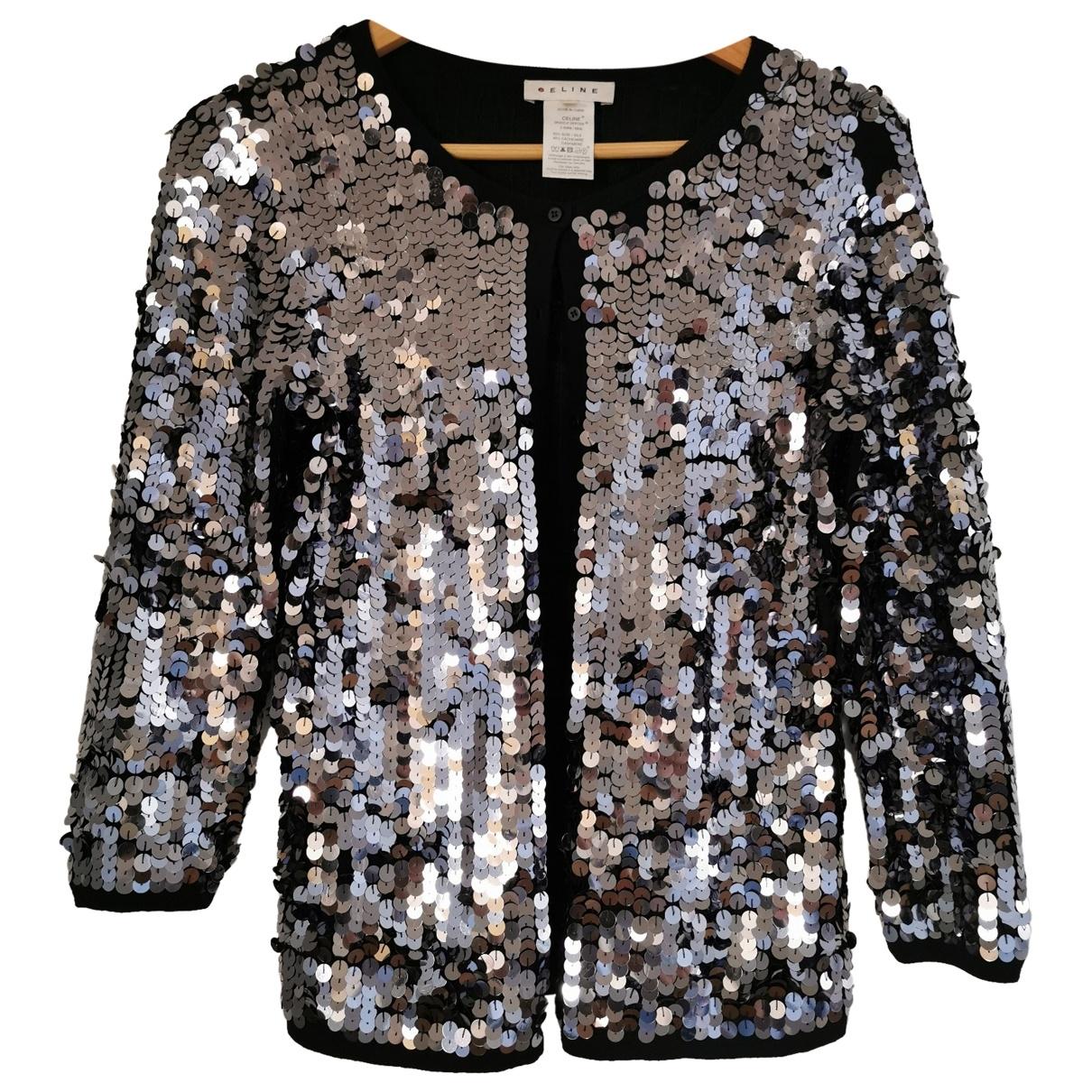 Celine \N Pullover in  Silber Seide