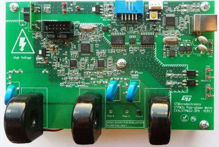 STMicroelectronics EVALSTPM3X-3PH, Energy Metering Demonstration Board for STM8S903, STPM33, STPM34 for Power Line