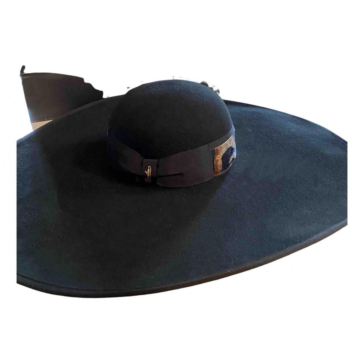 Borsalino - Chapeau   pour femme en laine - noir