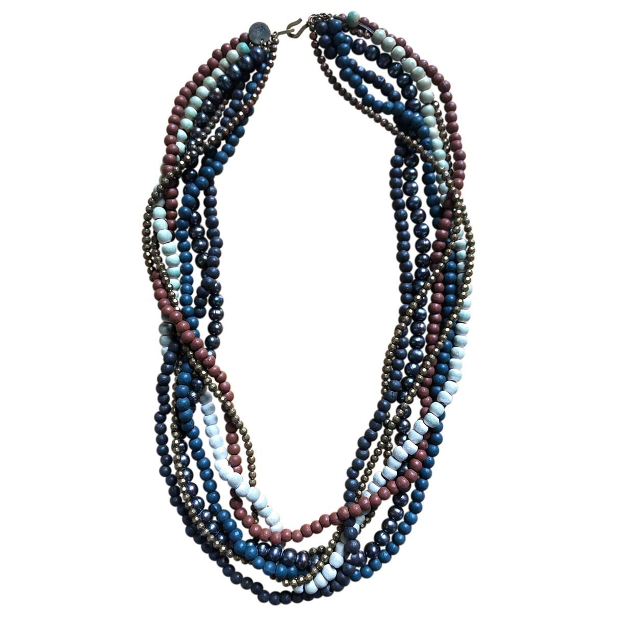 Furla - Collier   pour femme en bois - bleu