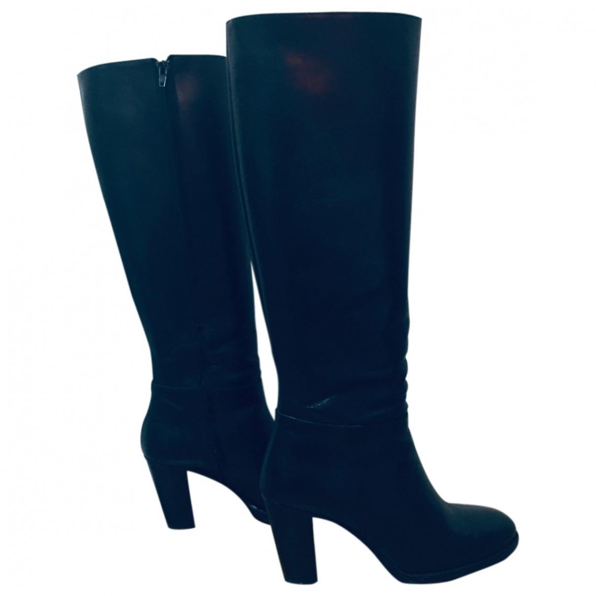 Gerard Darel - Bottes   pour femme en cuir - noir