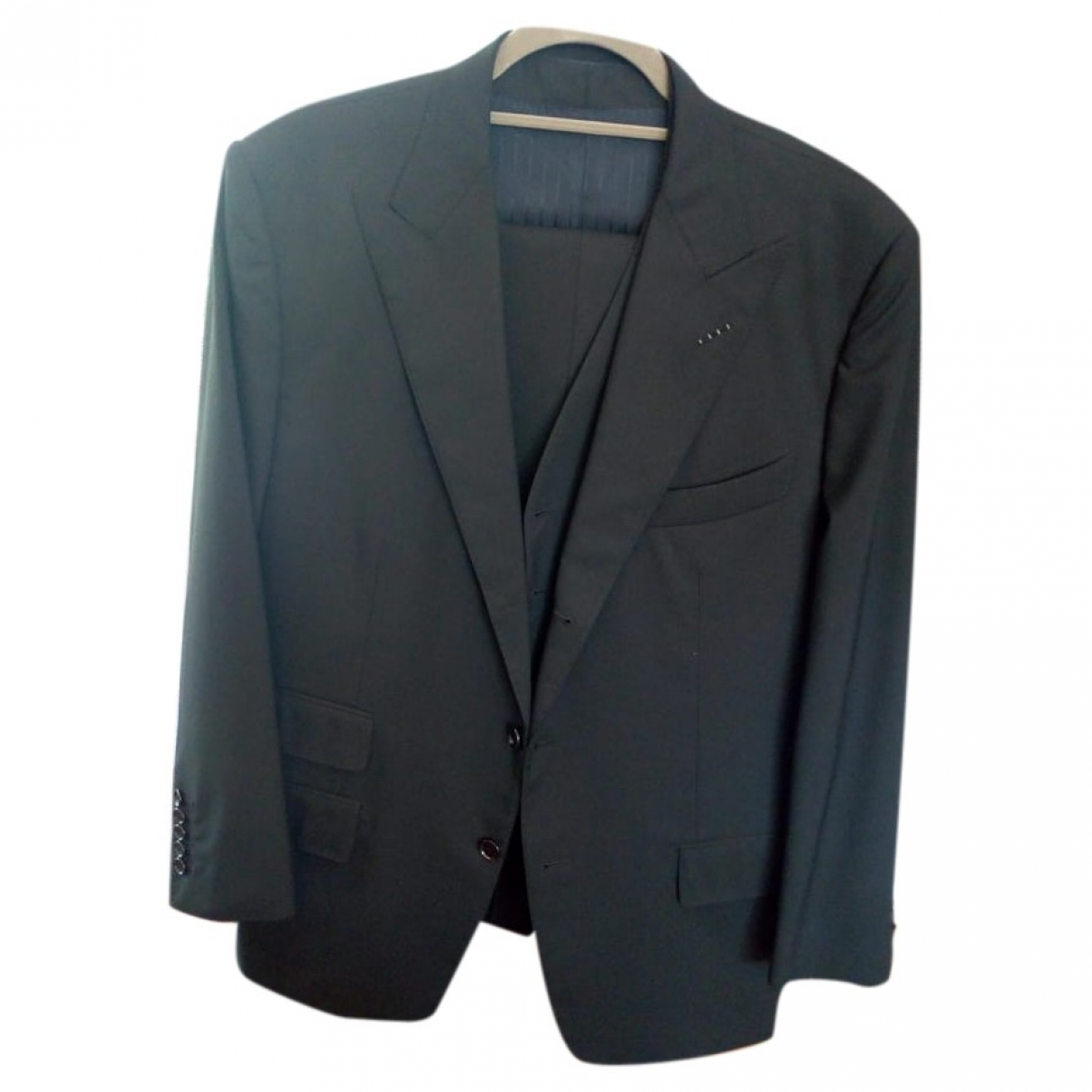 Tom Ford \N Black Wool Suits for Men 54 IT