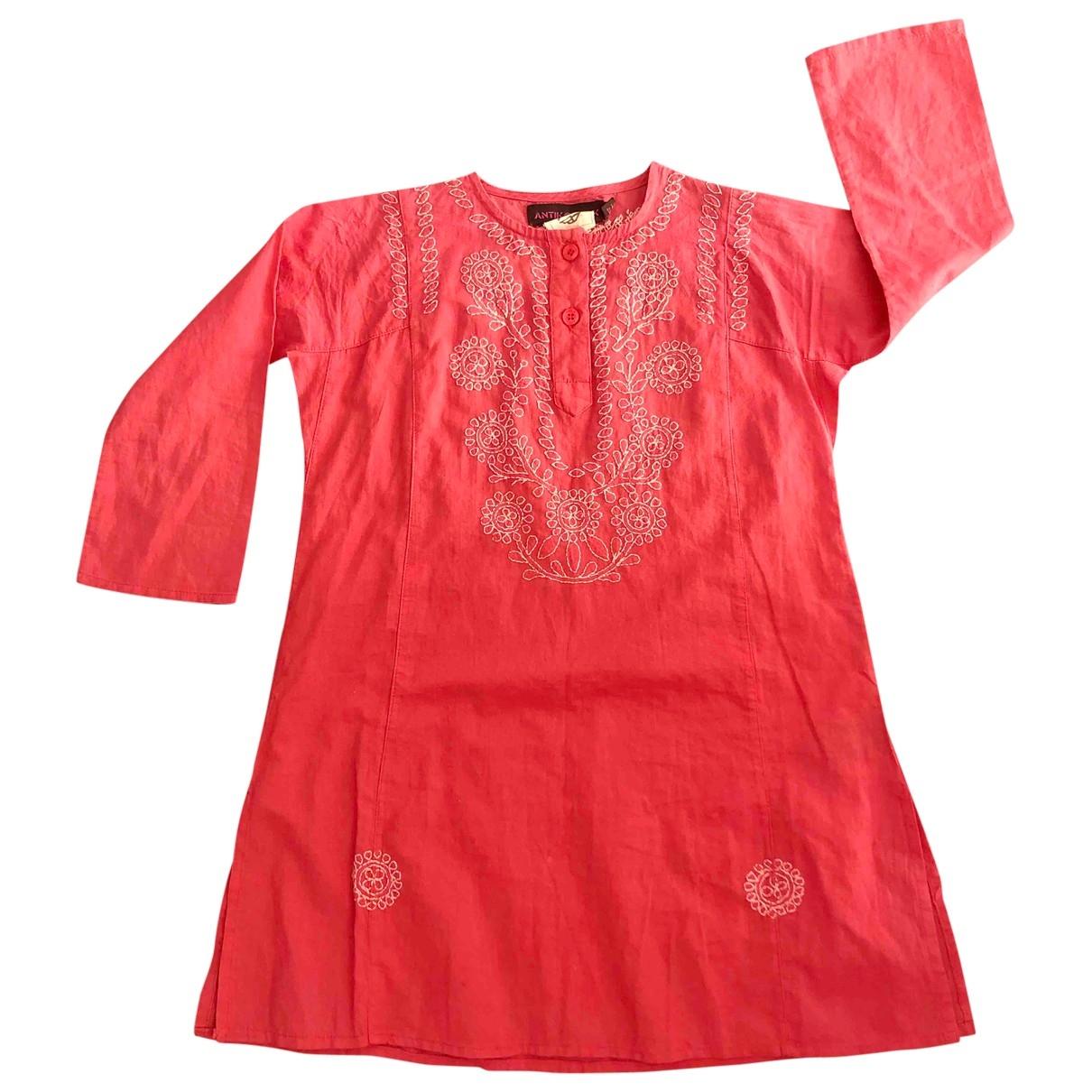 Antik Batik - Robe    pour enfant en coton - rose