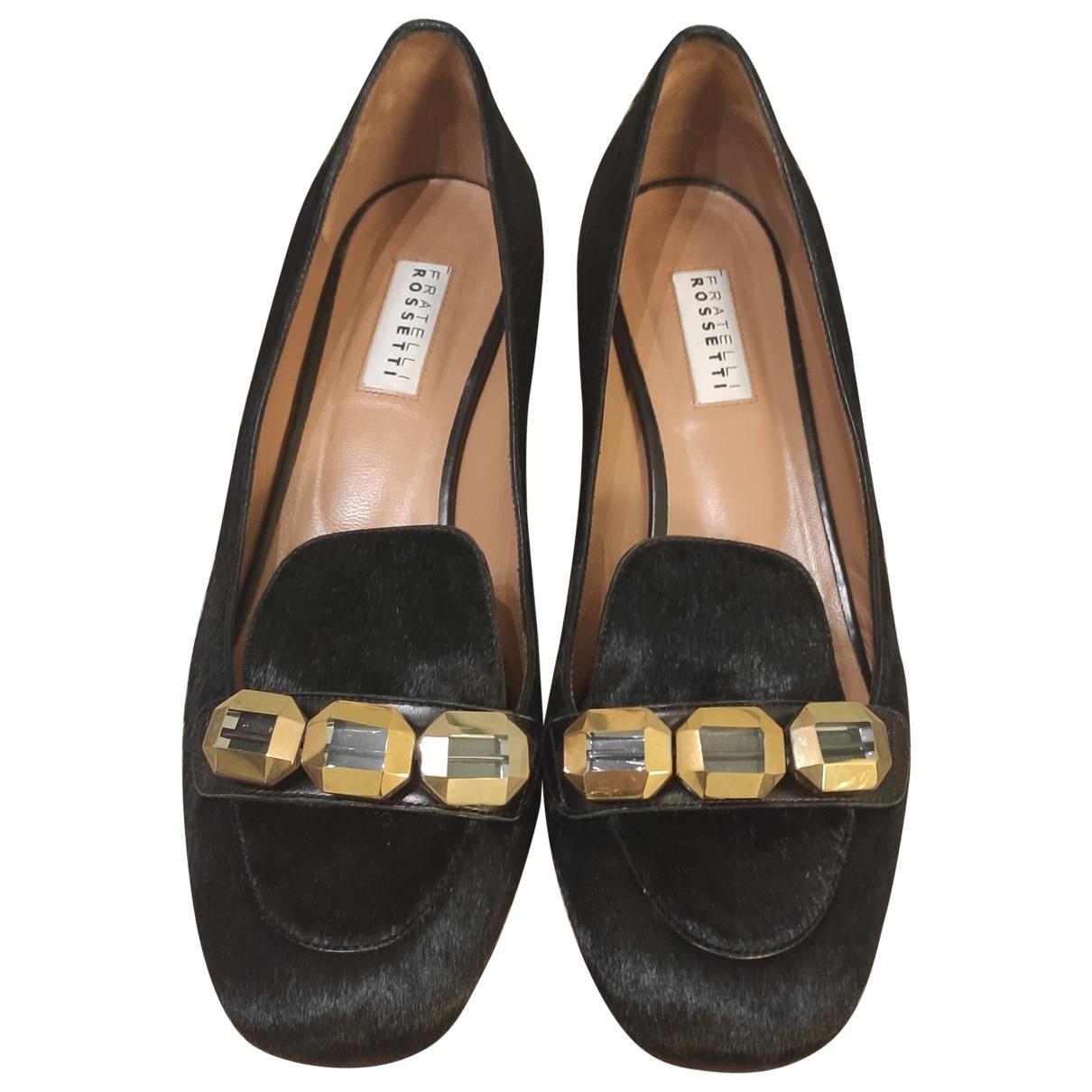 Fratelli Rossetti N Black Faux fur Heels for Women 37 IT